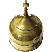 Complete Brass Betel Box in Stupa-form with Internal Copper Containers, late 19th to early 20th century
