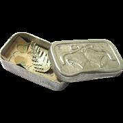 Rare Small Surviving Wedding Cake Box, Aluminium, early 20th Century