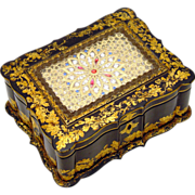 Jennens & Bettridge Sewing Box, Papier Mache