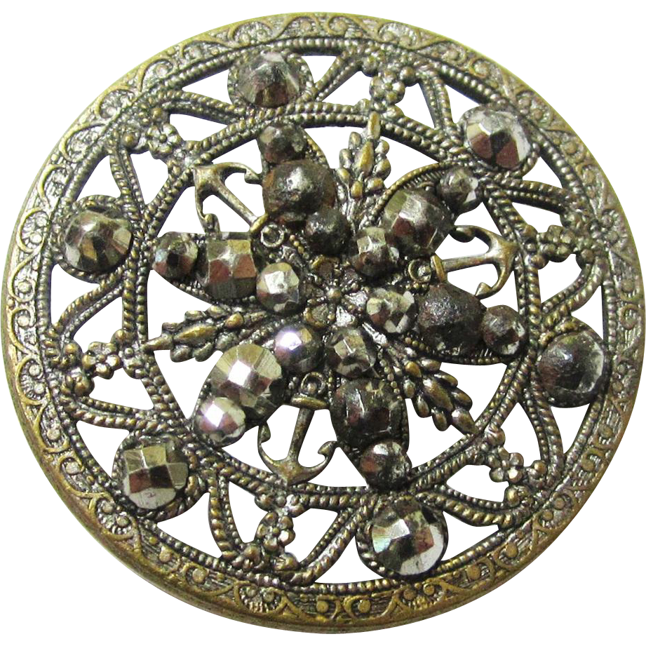 Georgian Filigree & Cut Steel Button, c1820