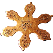 Super Rare 9ct Rose Gold Snowflake Silk Winder from a Palais Royal-style Box, early 19th Century