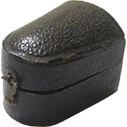 Classic Leatherette Thimble Box or Holder, late 19th Century