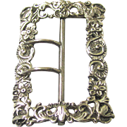 Quality Sterling Silver Buckle, Maker Samuel Jacob c1892, possibly for a Nurse