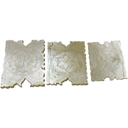 Trio of Mother of Pearl Winders with Matching Decoration, early 19th Century