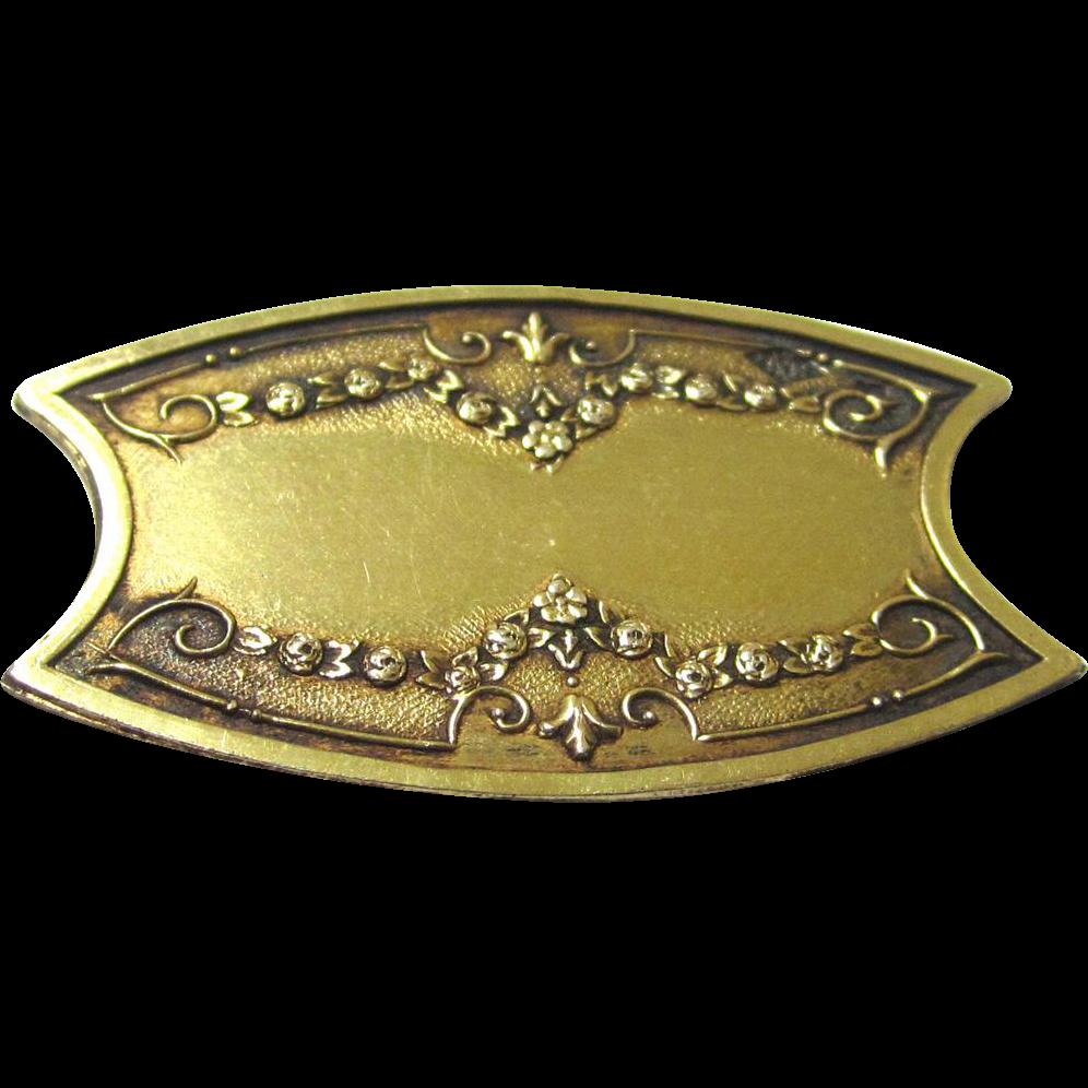Silver Gilt French Silk Winder, c1838