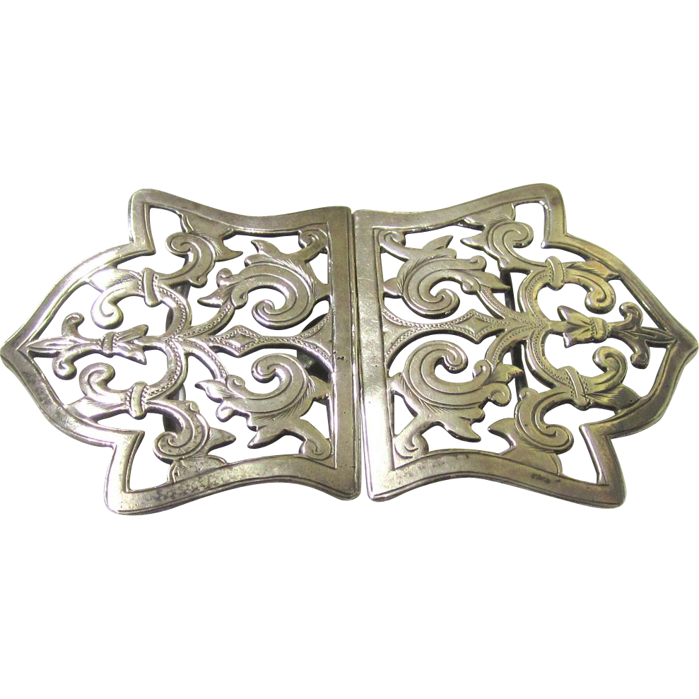 Classic Sterling Silver Buckle for a Nurse, Birmingham, 1898