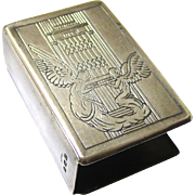 Sterling Silver Matchbox Holder, c1927, from Marryat & Scott