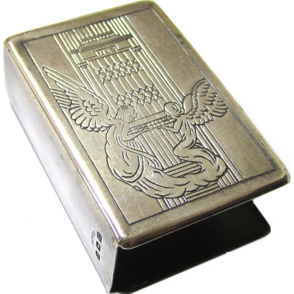 Sterling Silver Matchbox Holder, c1927, from Marryat & Scott