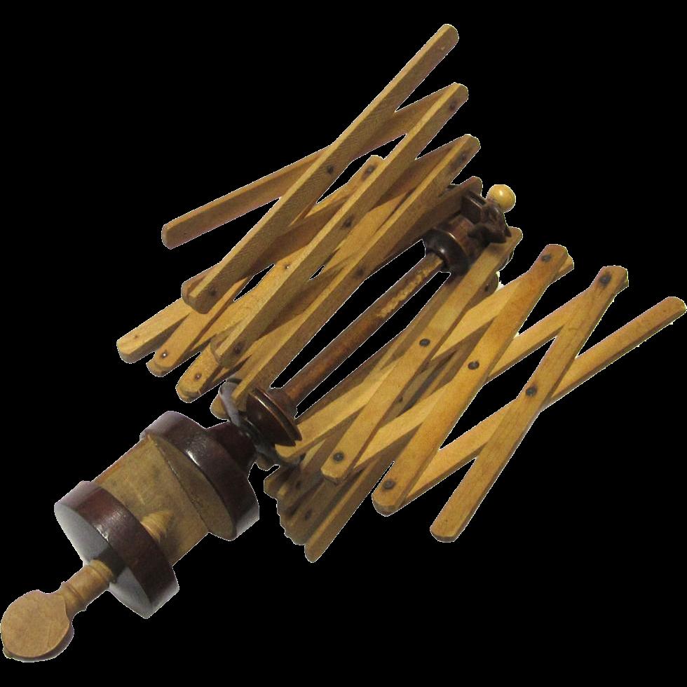 Table Clamp Thread/Yarn Winder or Swift, Victorian