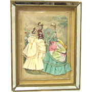 Desirable Fashion Plate Shadow Box, Anaïs Toudouze, c1870