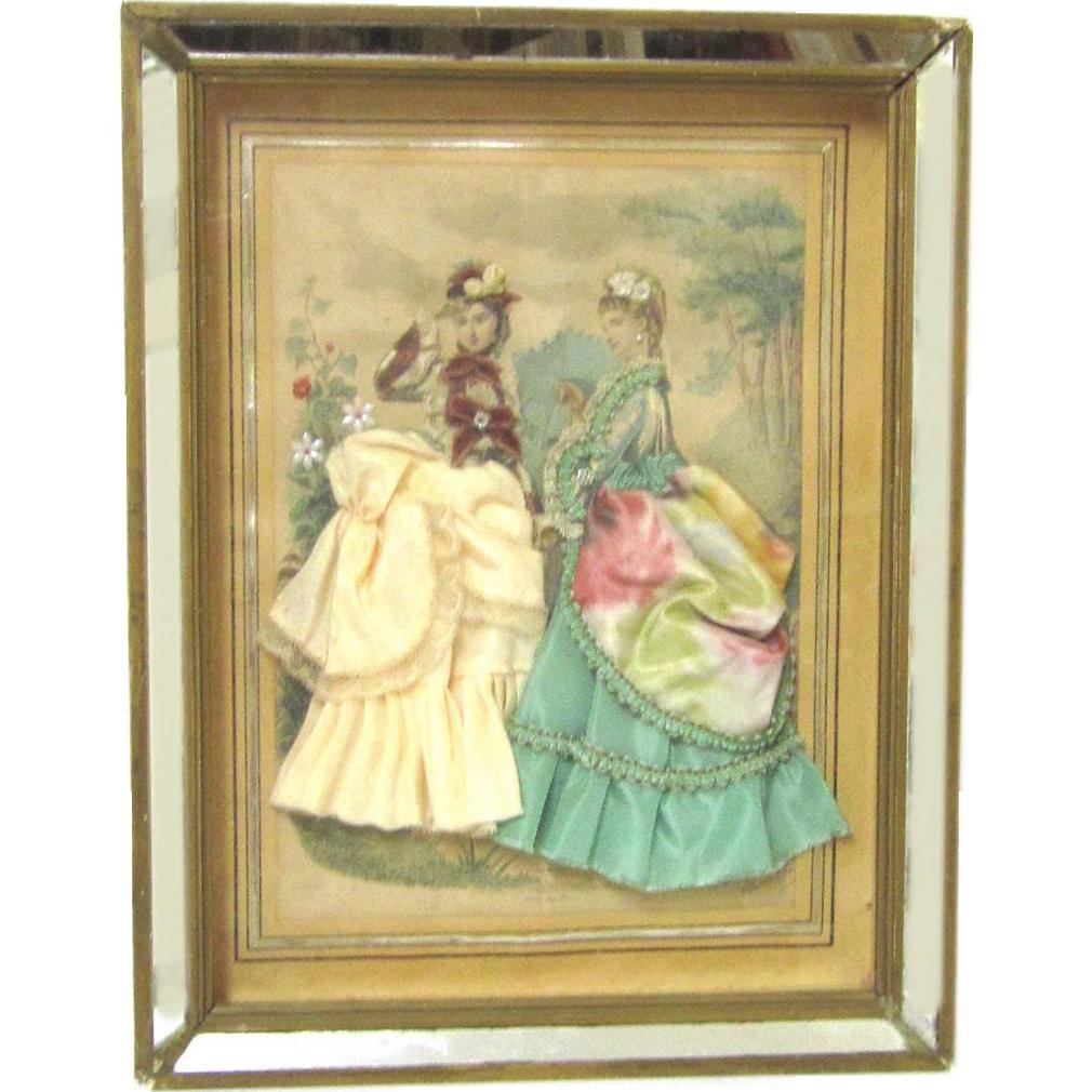 Desirable Fashion Plate Shadow Box, Anaïs Toudouze, c1870