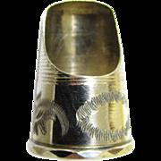 Rare Silver Finger Guard, late Regency