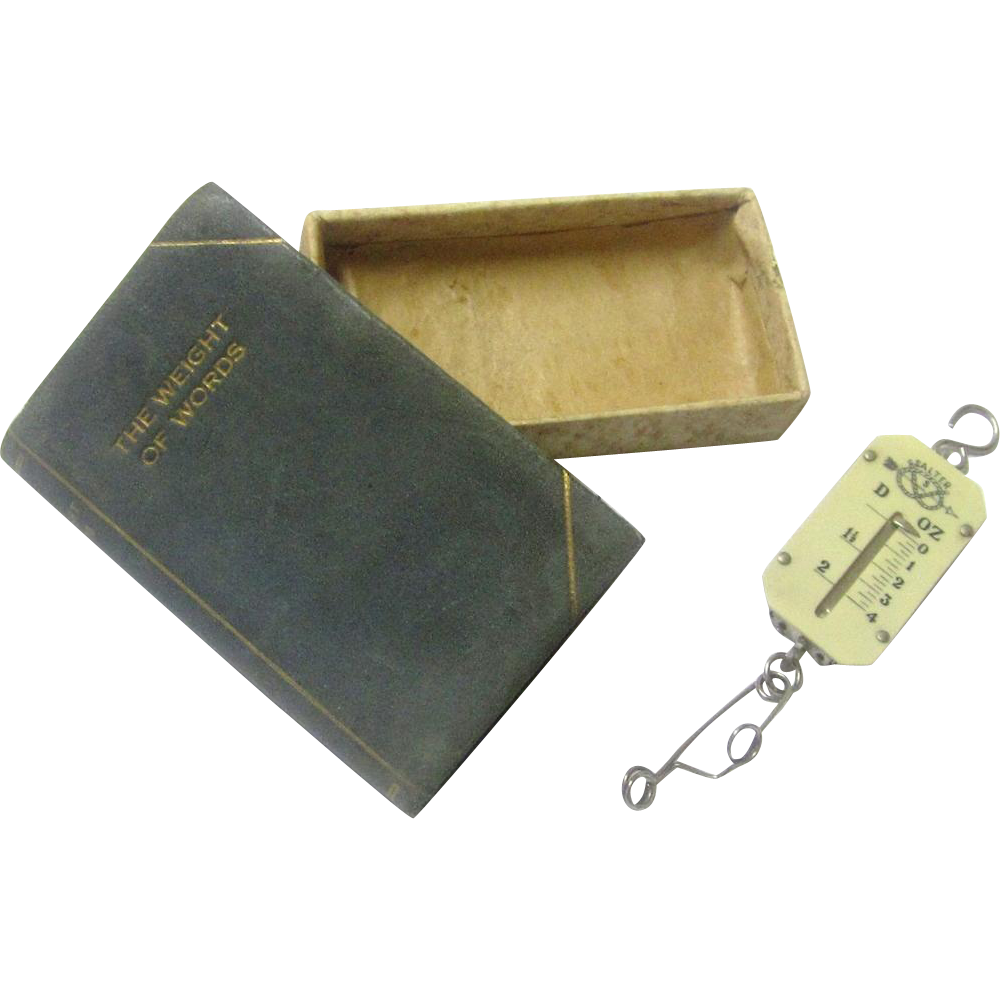 "Book-form Boxed ""Salter"" Letter Scale, late 19th – early 20th Century"