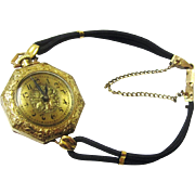Charming Gold Transitional Ladies Watch, Original Band, Emerson, Early 20th Century