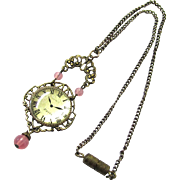Desirable Pendant Watch for a Doll, Complete with Chain, Vintage