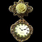 Pretty Brooch-form Doll Watch, Vintage