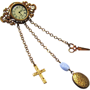 Special Complete Doll Watch Chatelaine, Vintage
