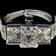 Ladies Ledo Rhinestone Bangle Wristwatch, c1949