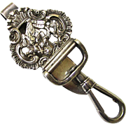 Rare Quality Sterling Silver Religious Chatelaine Key Holder, George Unite, c1889
