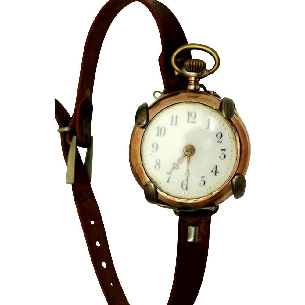 Transitional Pocket Watch with Wristwatch Holder, c1920s.