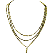 Versatile Gold Guard Chain without Slide, Victorian