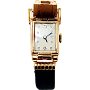 Ladies Art Deco Flip Top Cocktail Wristwatch