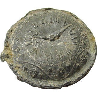Intriguing Lead Token in the Form of a Watch/Clock Face, possibly Stuart to Regency
