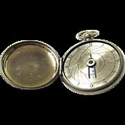 Rare Early Swiss Hunter Case Style Pedometer, c1877