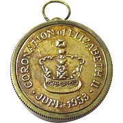 Watch-form Compass & Sun Dial Commemorating Elizabeth II Coronation, 1953