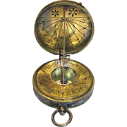 Watch-form Compass & Sun Dial Commemorating Lord Kelvin, Vintage
