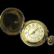 Classic Brass Full Hunter Roskopf Pocket Watch, Swiss-made, early 20th Century