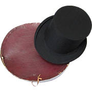 Classic Early 20th Century Collapsible Top/Opera Hat and Original Box