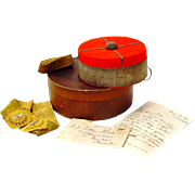 Military Pill-Box Hat in Original Box with Correspondence, Australian, mid 19th Century