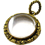 Early Gilt Metal and Glass Circular Locket