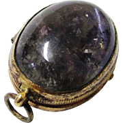Amethyst & 10 Carat Gold Locket or Reliquary, possibly 16th Century