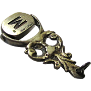 Silver or Silver Metal Swiveling Seal, Late Victorian