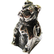 Silver Figural Seal/Charm of a Dog Named Bow Wow, Victorian