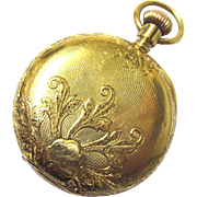 Beautiful 18K Gold Waltham Ladies Pocket Watch, late 19th Century