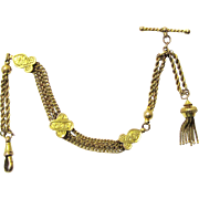 Quality 9 Carat Gold Vest Chain of the Albertina/Leontine Variety, late 19th Century