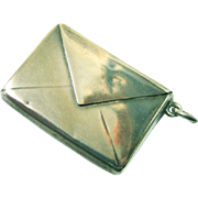 Classic Envelope-shaped Stamp Holder, Sterling Silver, c1910