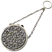 Silverplate Finger Ring Pomander, late Victorian