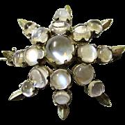 Classic Moonstone Star Brooch, late 19th Century