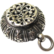 Vinaigrette/Pot Pourri Pendant, Antique Silver, 19th Century