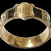 Sentimental 'Regard' Ring, 9 Carat Gold & Hair, Chester, c1910