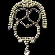 Sparkling Diamante/Rhinestone Necklace & Bracelet, early 20th Century