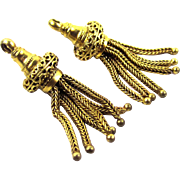 Pair of 14 Carat Gold Tassels, 19th Century