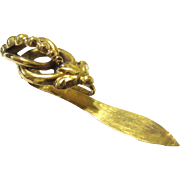 Stylish Gold Watch Hook, early 19th Century