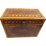 Intriguing Inlaid Portable Tibetan Medicine/Herbal Chest/Box, 19th Century