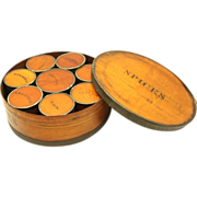 Rare American Bentwood Spice Box fitted with Eight Smaller Spice Boxes