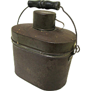 Tole Complete Layered Miner's Lunch Box, early 20th Century